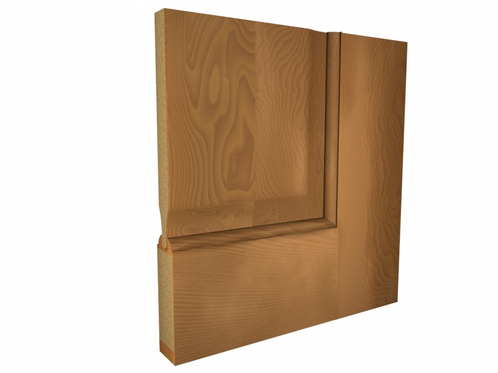 KARONA DOOR 3D Modeling/Rendering The project was to show each of the cabinet door frame styles that the company could make, with a believable wood texture.