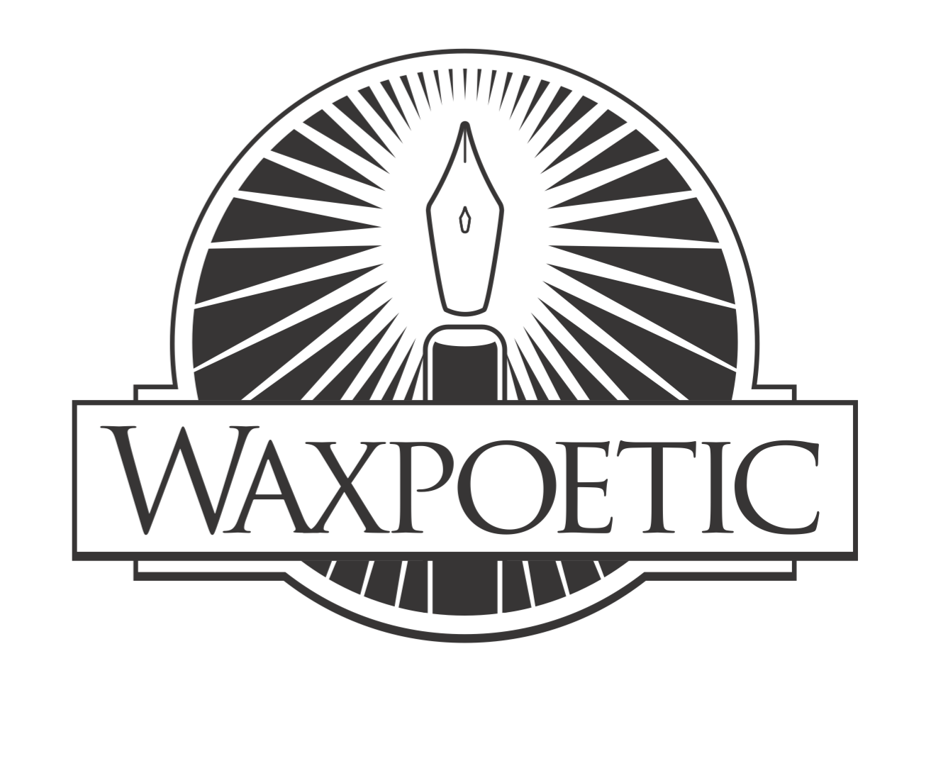 A client that chose a poetic name under which to sell candles deserved a smart logo.
